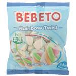 مارشمالو ببتو مدل Rainbow Twist مقدار 135 گرم