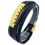 دستبند چرمی مدل رولکس کد R010