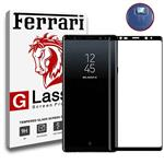 Full Cover and Full Adhesive 6D Dual Protector Ferrari Temperd Glass and camera lens protection Samsung Galaxy Note 9