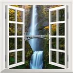 استیکر پنجره مجازی صالسو آرت مدل little bridge az