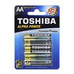 باتری  قلمی سوپر آلکالاین توشیبا مدل Alpha Power بسته 4 عددی