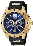 Invicta Men s 19659 I-Force 18k Gold Ion-Plated Watch with Black Polyurethane Band