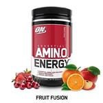 Optimum Nutrition Amino Energy, Fruit Fusion, Preworkout and Essential Amino Acids with Green Tea and Green Coffee Extract, 30 Servings