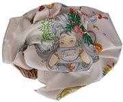 Gucci Women s Four Seasons Floral Silk Twill Square Neck Scarf