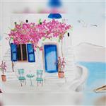 روبالشی دو عددی انگلیش هوم طرح Aegean House