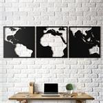 تابلو دکوراتیو آتینو طرح نقشه زمین کنتراست