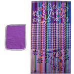 حوله دستی حوله هنر طرح رنگین کمان کد 122 سایز 40 × 75 سانتی متر به همراه حوله جیبی