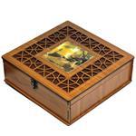 جعبه چای کیسه ای لوکس باکس طرح تابلو  کد LB2110