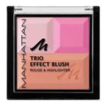 رژگونه و هایلایتر منهتن مدل تریو افکت Manhattan trio effect blush rouge and hilighter