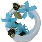 گلدان به همراه گل مصنوعی الماس مدل Flower3