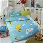 سرویس خواب 4 تکه کودک کاتن باکس  مدل  blue dream