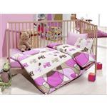 سرویس خواب 4 تکه کودک کاتن باکس  مدل  Pink Kitty
