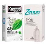 کاندوم کاپوت مدل 45 Minutes بسته 12 عددی به همراه کاندوم زنون مدل SKIN بسته 12 عددی