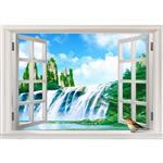 استیکر پنجره مجازی صالسو آرت طرح  abshare bahar az