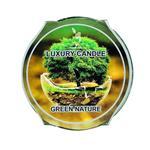شمع لیوانی طرح طبیعت سبز کد 6302
