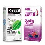 کاندوم کاپوت مدل 45 Minutes بسته 12 عددی به همراه کاندوم ناچ کدکس مدل Double Delay بسته 10 عددی