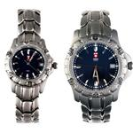 ست ساعت مچی عقربه ای زنانه و مردانهی سوئیس آرمی مدل 1275T