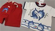 تی شرت شورت Baby Club ویتامین مدل دلفین