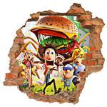 استیکر دیواری صالسو آرت طرح meatballs hk
