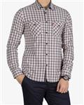 پیراهن مردانه چهارخانه ریز - کرمى