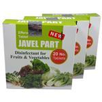 قرص ضد عفونی کننده میوه و سبزیجات ژاول پارت مدل DFV بسته 3 عددی