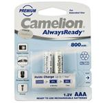 Camelion AlwaysReady 800mAh Rechargeable AAA Battery Pack of 2