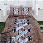 سرویس ملحفه ویکتوریا مدل Snickers دو نفره 4 تکه