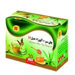 چای سبز آلوورا عسل 111 بسته 20 عددی