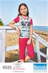 تی شرت شلوارک دخترانه ترک - 6533 براک