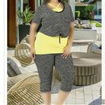 تی شرت شلوارک سایز بزرگ زنانه ترک - 7444 Miss Tiko