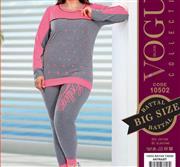 بلوز شلوار زنانه سایز بزرگ ترک -  10502 Vogue