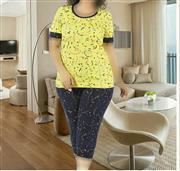 تی شرت شلوارک سایز بزرگ زنانه ترک - 7442 Miss Tiko