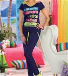 تی شرت شلوار زنانه ترک -  10108 Vogue