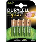 Duracell Recharge Rechargeable AA Battery Pack Of 4