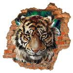 استیکر دیواری صالسو آرت طرح angry tiger hk