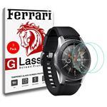 محافظ صفحه نمایش گلس فراری مدل Ultra Clear Crystal مناسب برای ساعت سامسونگ Galaxy Watch 46mm مجموعه دو عددی