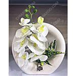 گل مصنوعی ارکیده گلدان انگشتری