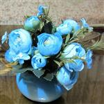 گلدان نسترن مصنوعی(دوحالت دیواری و رومیزی)