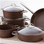 سرویس  قابلمه گرانیت 9 پارچه برند فالز   Falez  9 Pieces Granite Cookware  (سرویس قابلمه گرانیت 9 پارچه برند فالز )