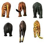 مگنت کیکرلند مدل Safari Animal Butt بسته 6 عددی
