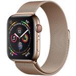 ساعت هوشمند اپل واچ سری 4 سلولار مدل 40mm Gold Stainless Steel Case with Gold Milanese Loop