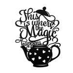 تابلو مینیمال رومادون طرح Magic Happens کد 2047
