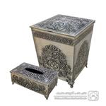 سطل و دستمال هندی پیوتر کد 1520
