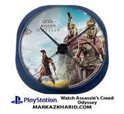 ساعت دیواری فانتزی طرح بازی پلی استیشن ۴ اساسین کرید اودیسه Playstation 4 Game Assassin's Creed Odyssey Clock