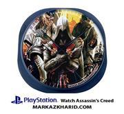 ساعت دیواری فانتزی طرح بازی پلی استیشن ۴ اساسین کرید Playstation 4 Game Assassin's Creed Clock