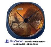 ساعت دیواری فانتزی طرح بازی پلی استیشن 4 شادو آو تامب رایدر Playstation 4 Game Shadow of Tomb Raider Clock