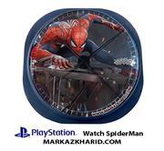 ساعت دیواری فانتزی طرح بازی پلی استیشن ۴ اسپایدرمن Playstation 4 Game Spider Man Clock