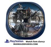 ساعت دیواری فانتزی طرح بازی پلی استیشن 4 تام کلنسی گوست ریکان Playstation 4 Game Tom Clancy's Ghost Recon Wildlands Clock