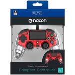 NACON Wired Illuminated Compact Controller - Crystal Red - PS4