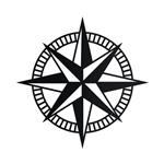 تابلو مینیمال رومادون طرح قطب نما کد 2307